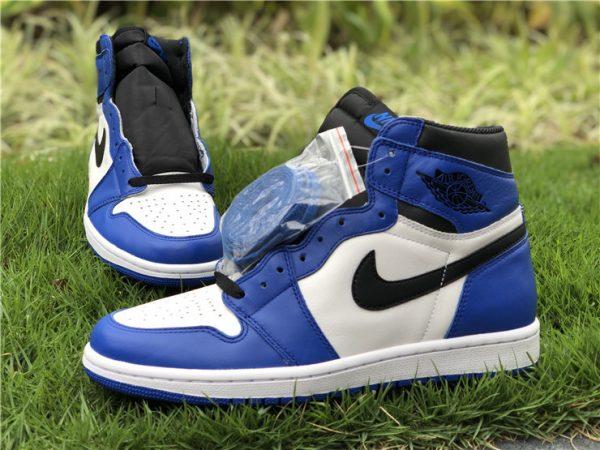 shop Air Jordan 1 White Royal Blue