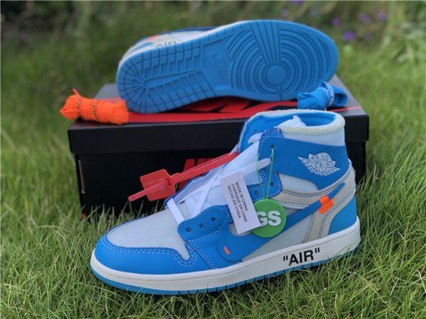 shop Off-White Air Jordan 1 UNC University Blue