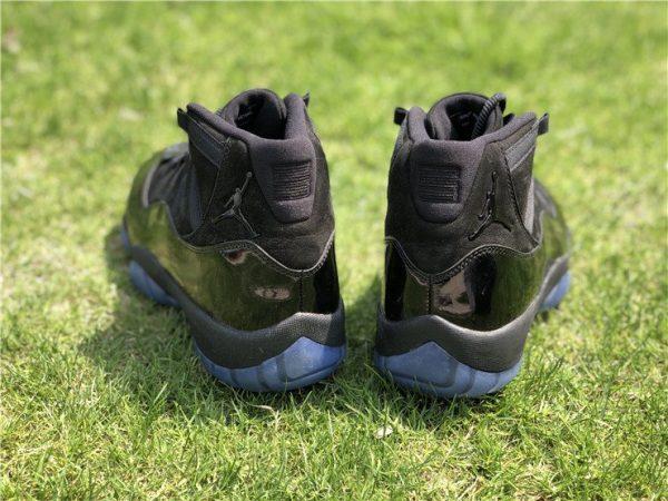 2018 Air Jordan 11 Cap and Gown Triple Black heel