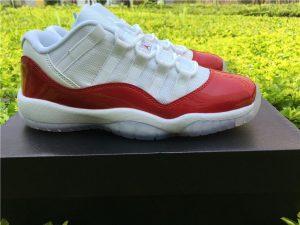 Air Jordan XI 11 Retro Low White Varsity Red