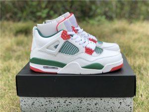 Custom Air Jordan 4 Gucci White Green-Red