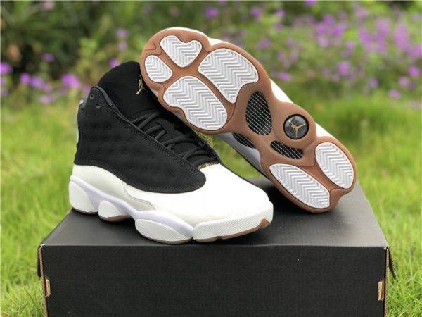 Jordan 13 Retro Black White Gum shoes