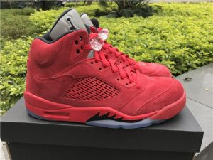 Jordan 5 Retro Red Suede University Red Black
