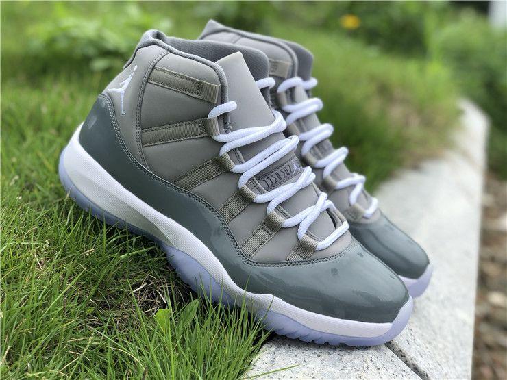 Mens Air Jordan 11 High Cool Grey shoes