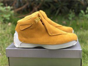 2018 Air Jordan 18 Suede Pack Yellow Ochre