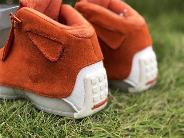 Air Jordan 18 Suede Pack Orange heel
