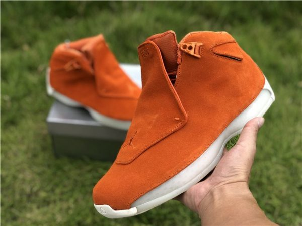 Air Jordan 18 Suede Pack Orange shoes