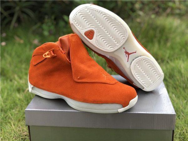 Air Jordan 18 Suede Pack Orange trainer