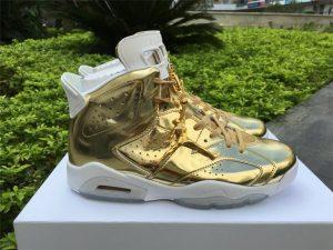 Jordan 6 Pinnacle Metallic Gold White