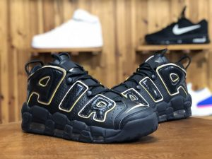 Nike Air More Uptempo France Black Gold