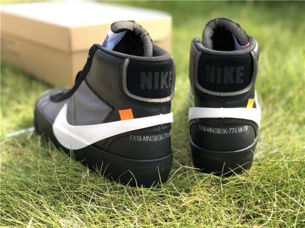Nike Blazer Off-White Grim Reaper heel