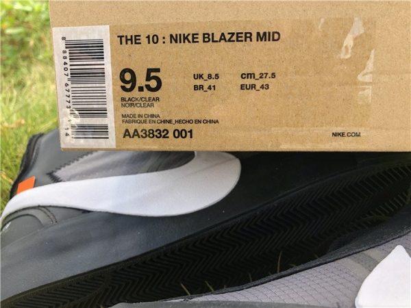 Off-White x Nike Blazer Grim Reaper Black detail