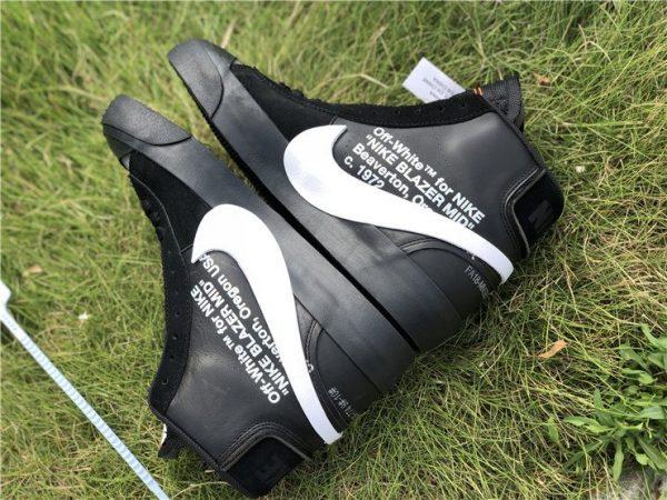 Off-White x Nike Blazer Grim Reaper Black white swoosh