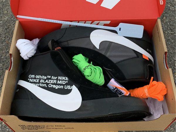 Off-White x Nike Blazer Grim Reaper in box