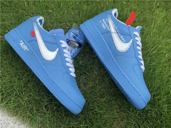 Off-White x af1 1 Low MCA Chicago Blue shoes