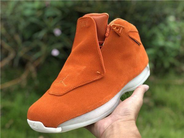 Orange Air Jordan 18 Suede Pack on hand