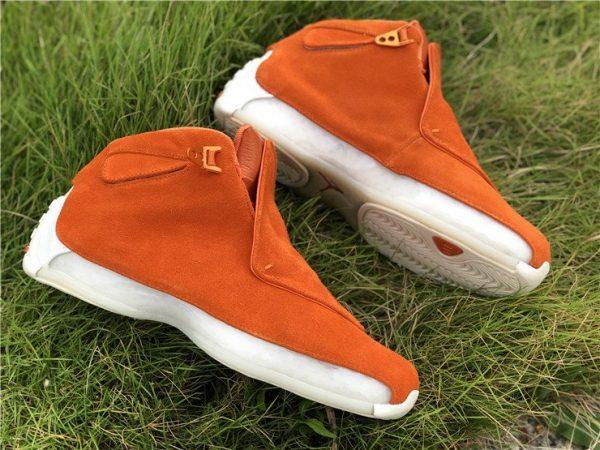 Orange Air Jordan 18 Suede Pack sneaker