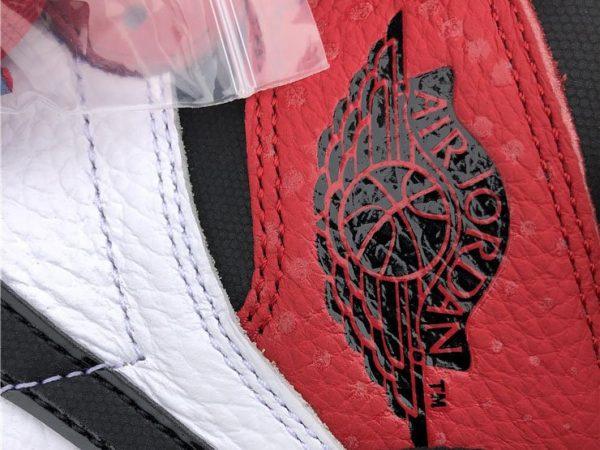 Air Jordan 1 Chicago Crystal Gym Red branding logo