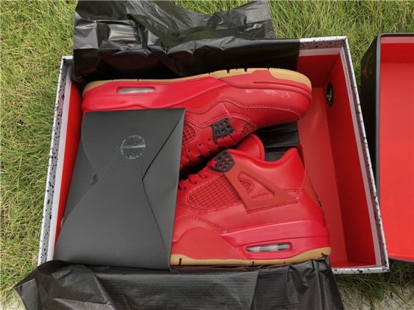 Air Jordan 4 NRG Singles Day Fire Red in box