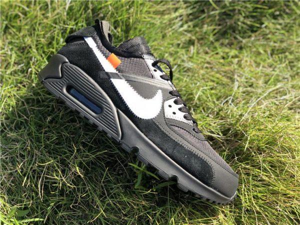 Black Off-White Nike Air Max 90 shoes