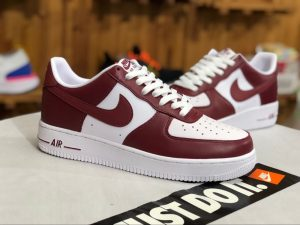 Nike Air Force 1 Low Mens Shoe Team Red White