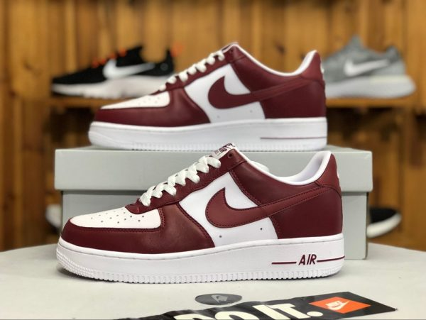 Nike Air Force 1 Low Team Red White swoosh