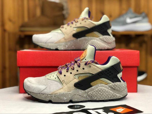 Nike Air Huarache ACG Linen Golden Beige Purple shoes