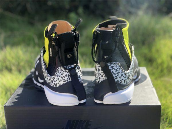 Nike Air Presto Mid Acronym Dynamic Yellow heel