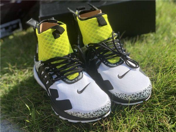 Nike Air Presto Mid Acronym Dynamic Yellow tongue