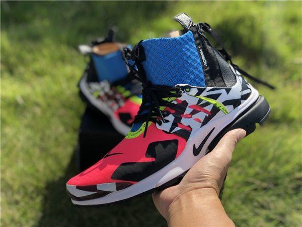 Nike Air Presto Mid x Acronym Racer Pink on hand