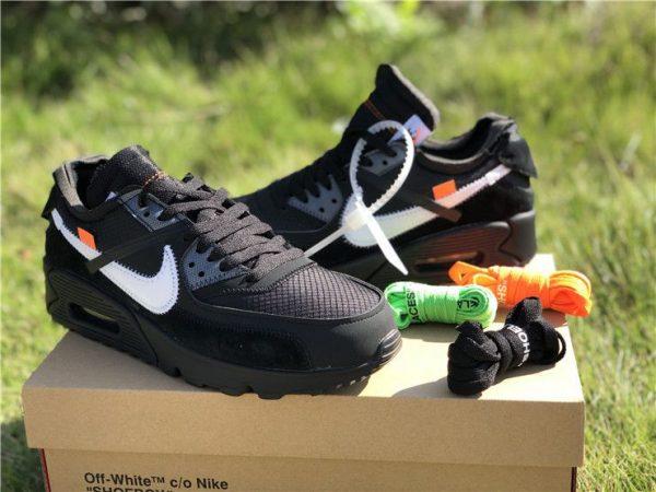 Off-White Nike Air Max 90 Black AA7293-001 shoes