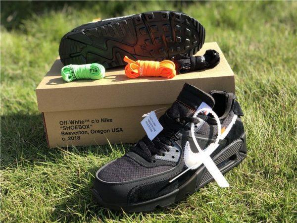 shop OFF-WHITE Air Max 90 Black Nike