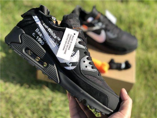 swoosh Off-White Nike Air Max 90 Black AA7293-001