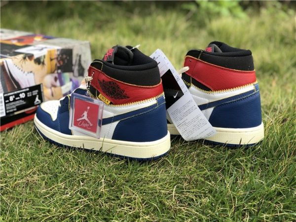 Air Jordan 1 NRG Storm Blue Union heel