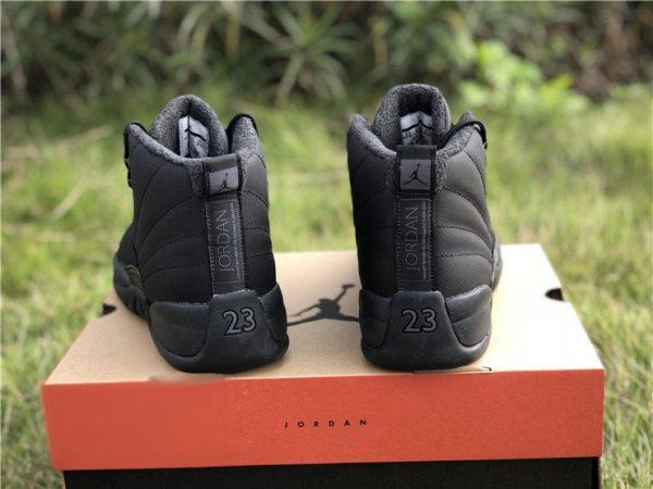 Air Jordan 12 Winterized WNTR Triple Black Anthracite heel