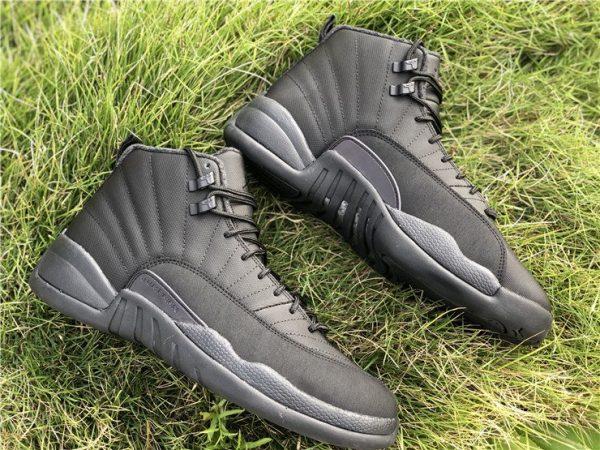 Air Jordan 12 Winterized WNTR Triple Black Anthracite shoes