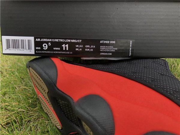 Air Jordan 13 Low CLOT INFRA-BRED detail