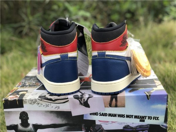 Storm Blue Union x Air Jordan 1 Retro High OG NRG heel