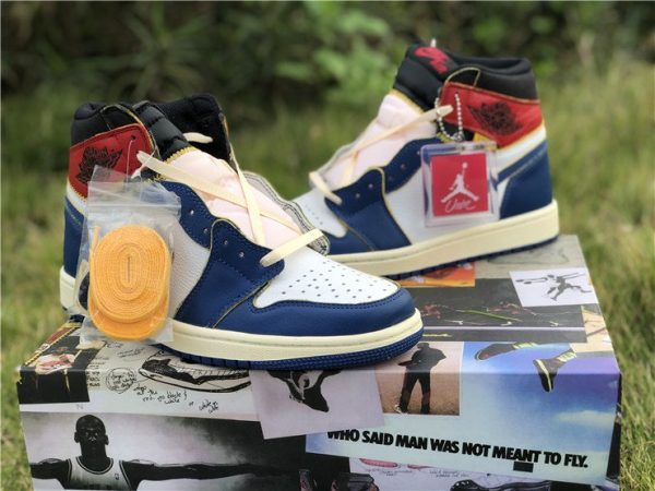 Storm Blue Union x Air Jordan 1 Retro High OG NRG shoelaces
