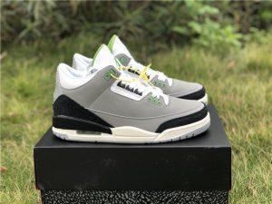 Air Jordan 3 Retro Chlorophyll Light Smoke Grey