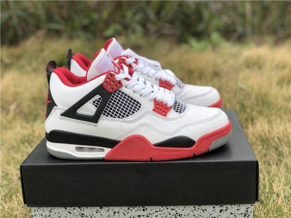 Air Jordan 4 IV White Fire Red Nike Swoosh Air