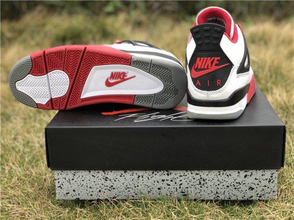 Air Jordan 4 IV White Fire Red Nike Swoosh Air sole
