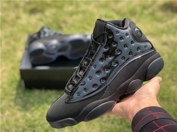 2019 Air Jordan 13 Cap and Gown all Black for sale