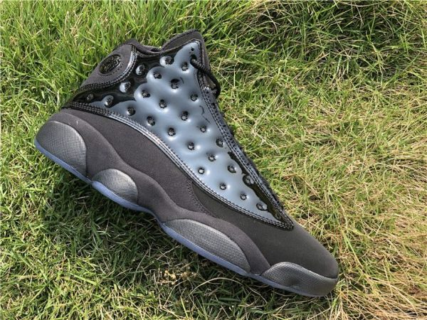 2019 Air Jordan 13 Cap and Gown all Black lateral panel