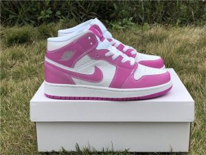 GS Air Jordan 1 Chameleon True Berry Rush Pink-White