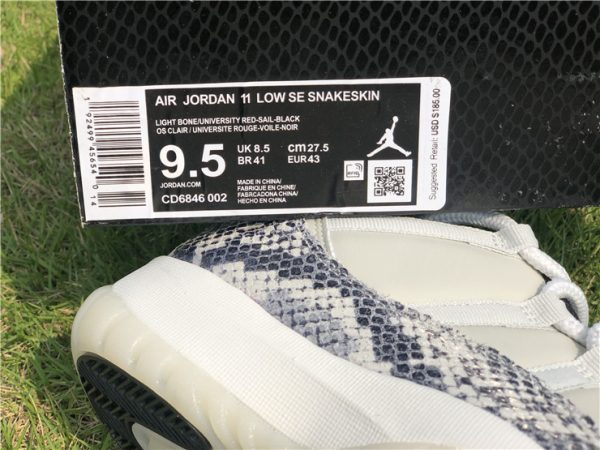 Jordan 11 Low SE Snakeskin Light Bone for sale
