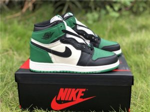 GS Air Jordan 1s High Pine Green White
