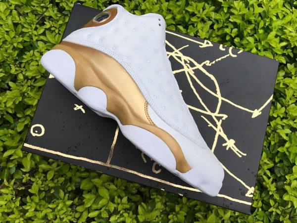 Air Jordan 13 DMP Finals Pack White Gold shoes