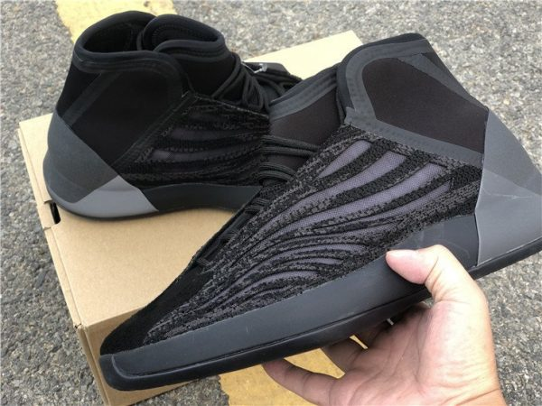 All Black adidas Yeezy Basketball EG1536 on hand look