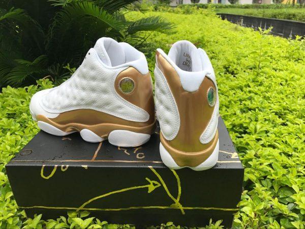 Jordan 13 Retro DMP WhiteMetallic Gold back